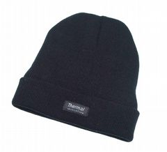Junior boys black beanie thermal hat HT780236